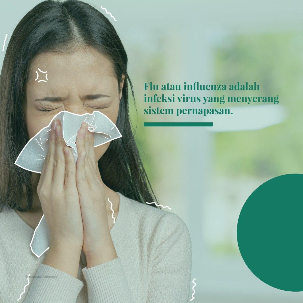 Resiko terkena flu cukup tinggi berada disekelilingkita