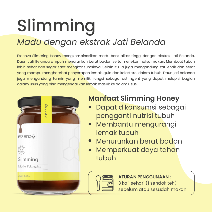 Buy 1 Get 2 Essenzo Slimming Honey Madu untuk turunkan Berat Badan